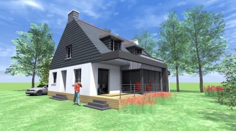 projet d d 1 2 vue architecte lise roturier rennes 35000. Black Bedroom Furniture Sets. Home Design Ideas