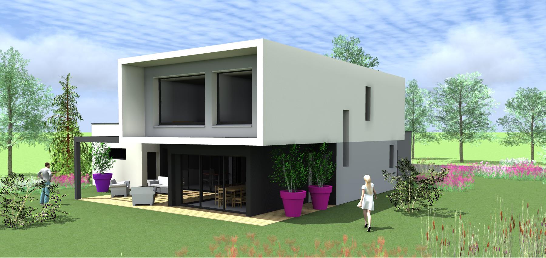 projet b b 1 2 vue architecte lise roturier rennes 35000. Black Bedroom Furniture Sets. Home Design Ideas