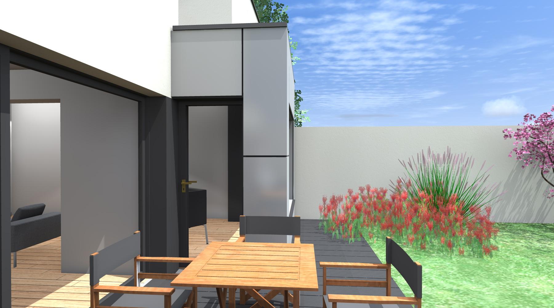 extension d 39 une maison noyal sur vilaine 35 agence 2 2 vues. Black Bedroom Furniture Sets. Home Design Ideas