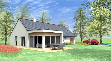 Projet q b 2 2 vues architecte ma tre d 39 oeuvre for Extension maison tva