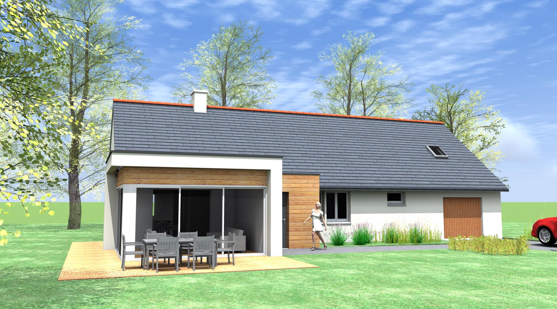 Projet q b 2 2 vues architecte ma tre d 39 oeuvre for Agrandissement maison rennes