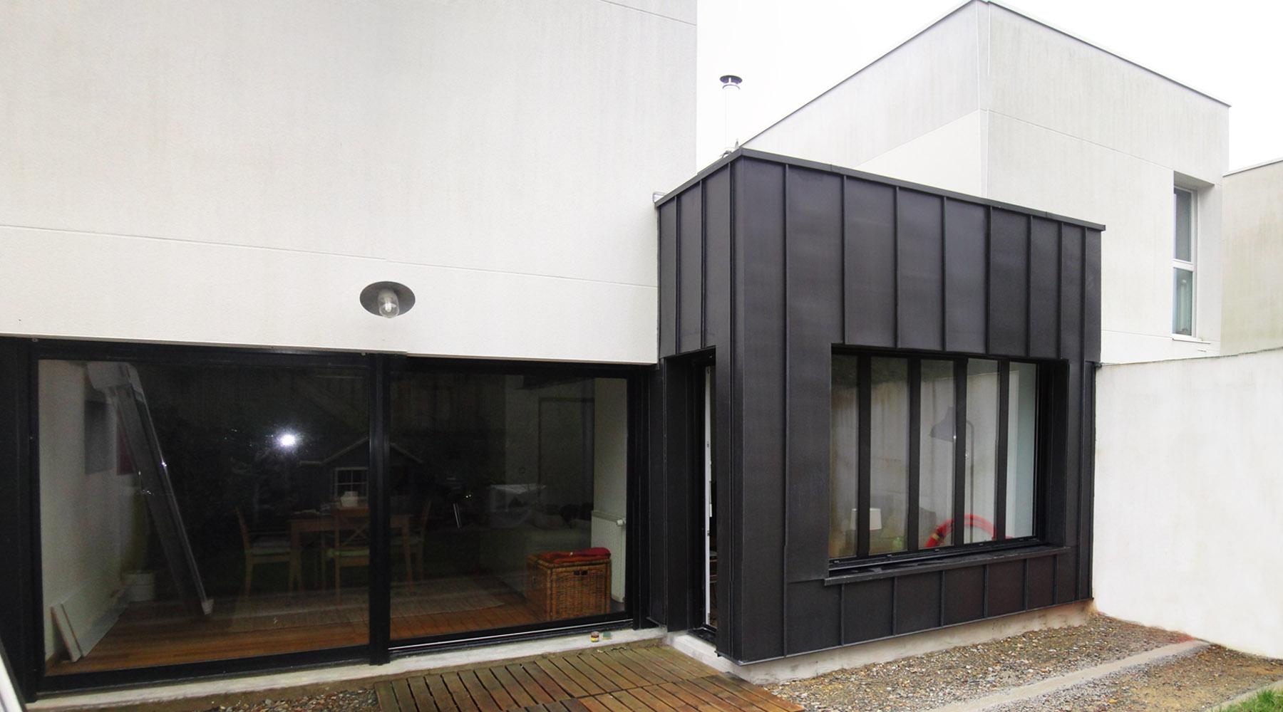 Extension d 39 une maison noyal sur vilaine 35 agence 2 for Architecte extension maison 92