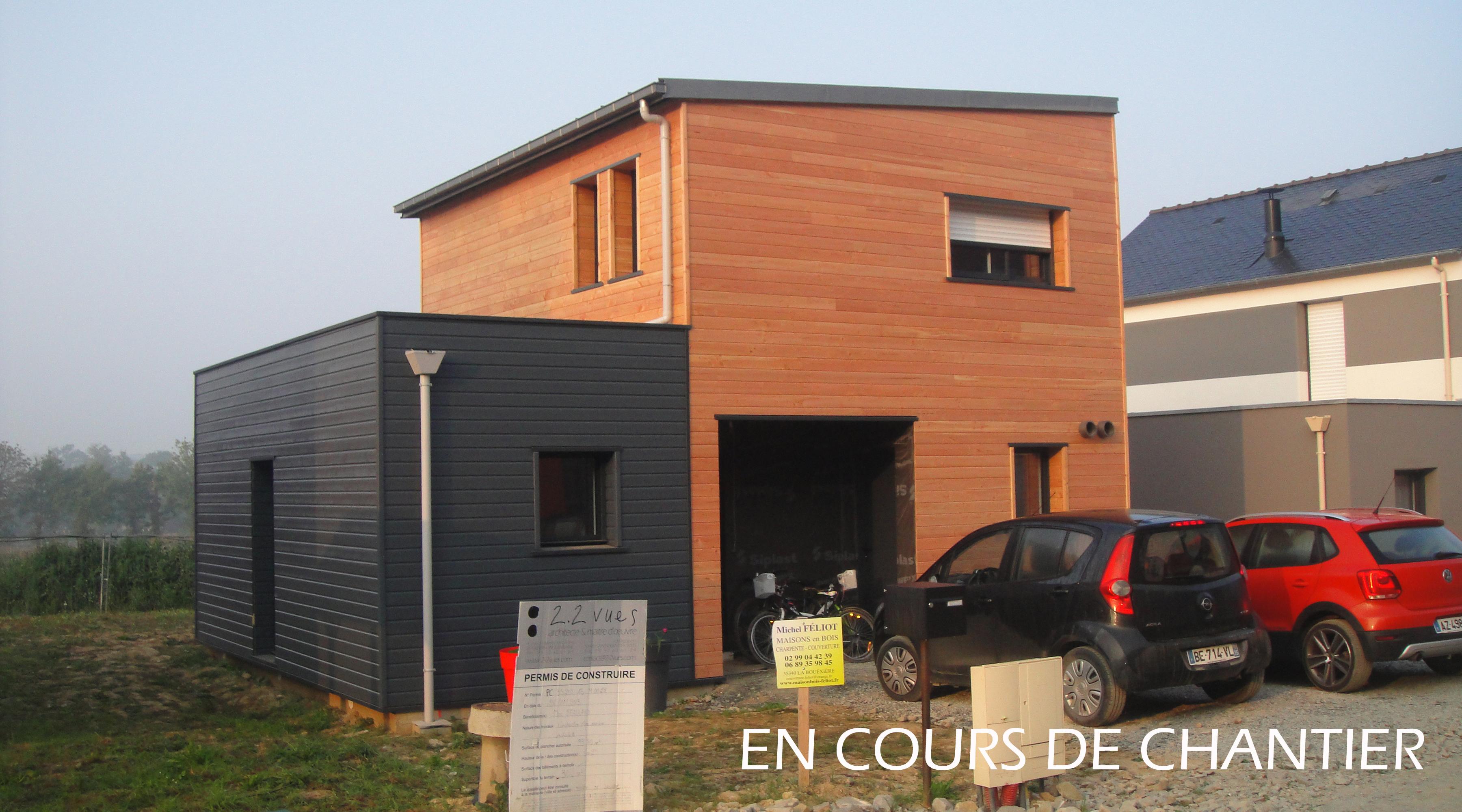 Projet d 39 une maison en ossature bois org res 35 for Logement agence