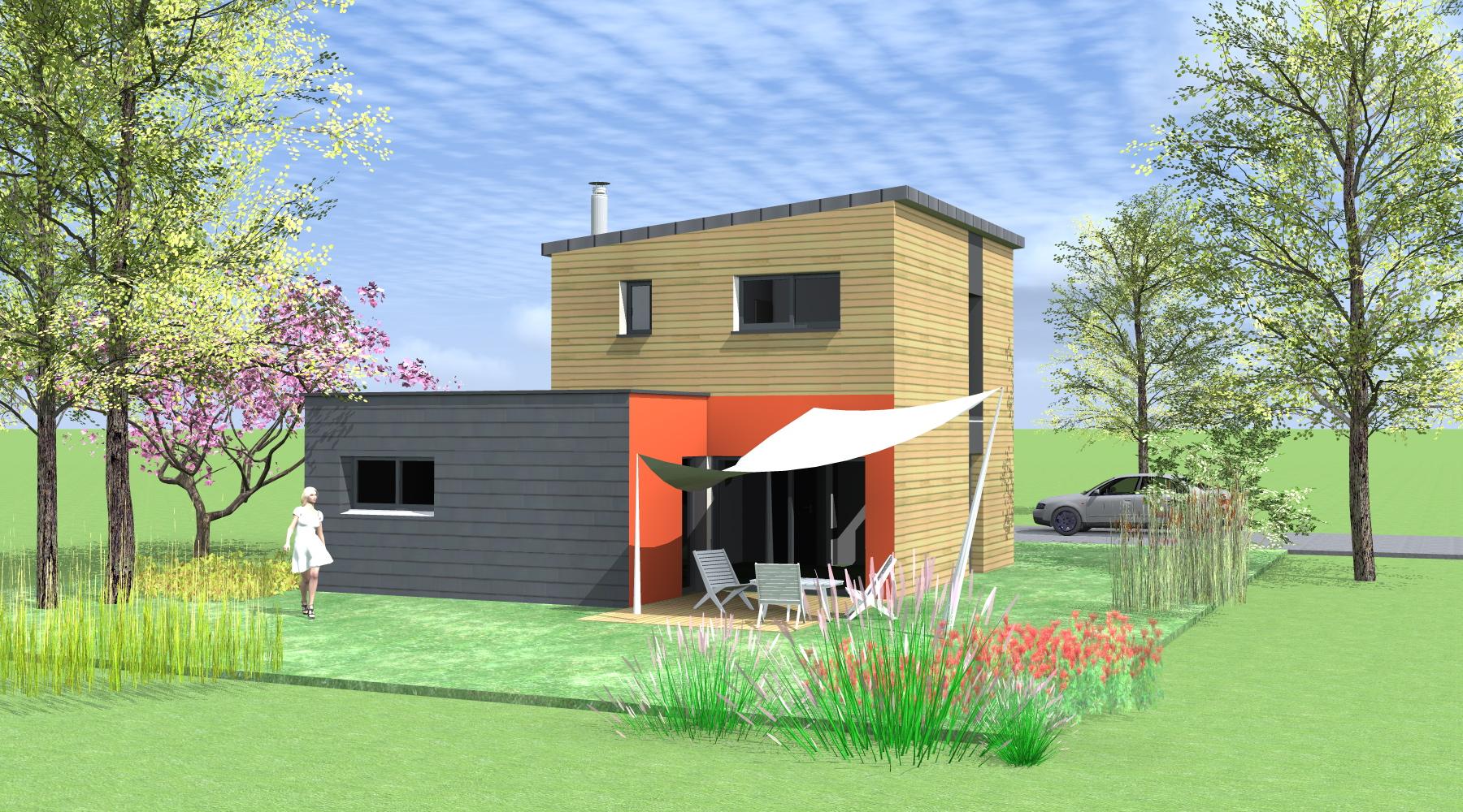 projet d 39 une maison en ossature bois org res 35. Black Bedroom Furniture Sets. Home Design Ideas