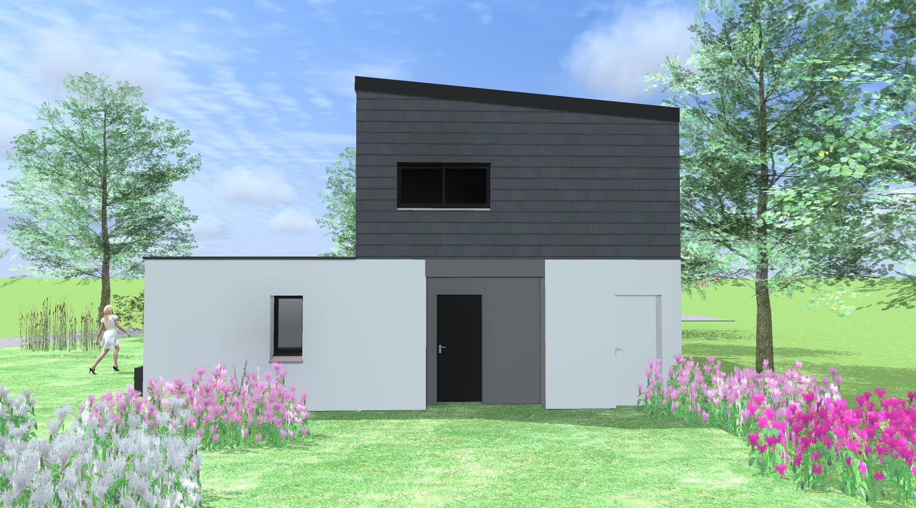 maison d 39 architecte au rheu 35. Black Bedroom Furniture Sets. Home Design Ideas