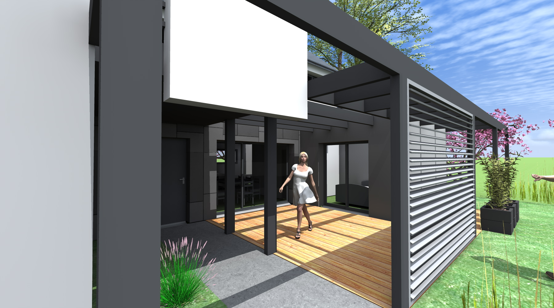 maison d 39 architecte contemporaine st gr goire 35 agence 2 2 vues. Black Bedroom Furniture Sets. Home Design Ideas