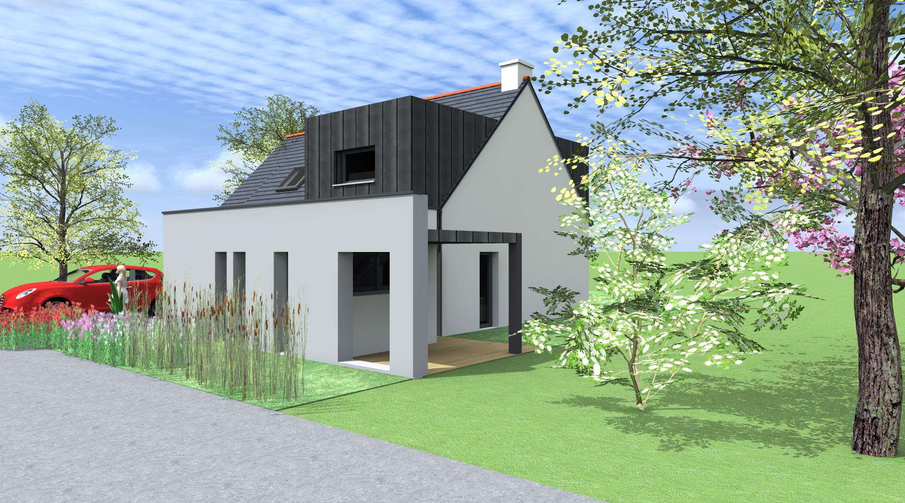 extension d 39 une maison pac rennes 35 architecte 2 2 vues. Black Bedroom Furniture Sets. Home Design Ideas
