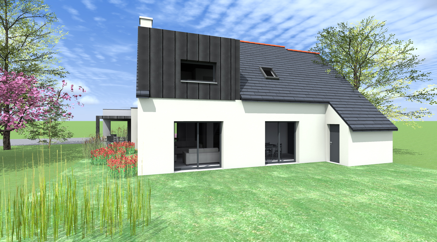 Extension d 39 une maison pac rennes 35 architecte 2 for Agence construction maison