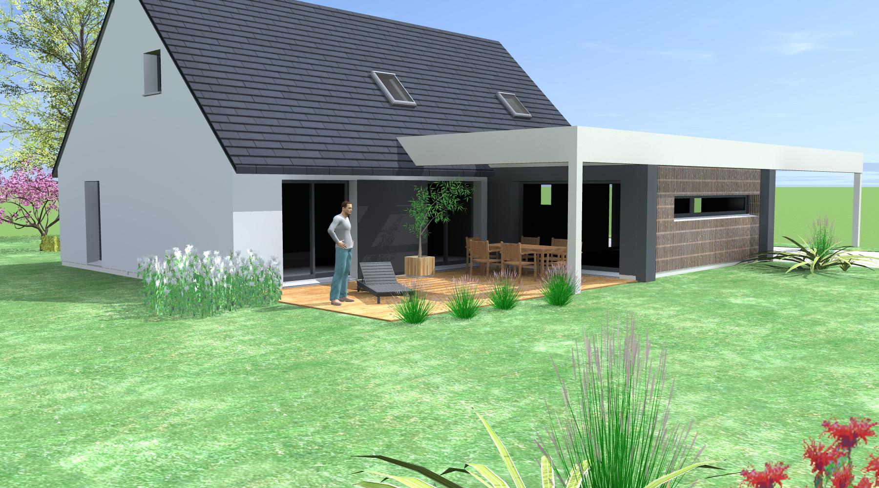 projet m m 1 2 vue architecte lise roturier rennes 35000. Black Bedroom Furniture Sets. Home Design Ideas
