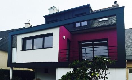 Projet pg v 1 2 vue architecte lise roturier for Agrandissement maison rennes