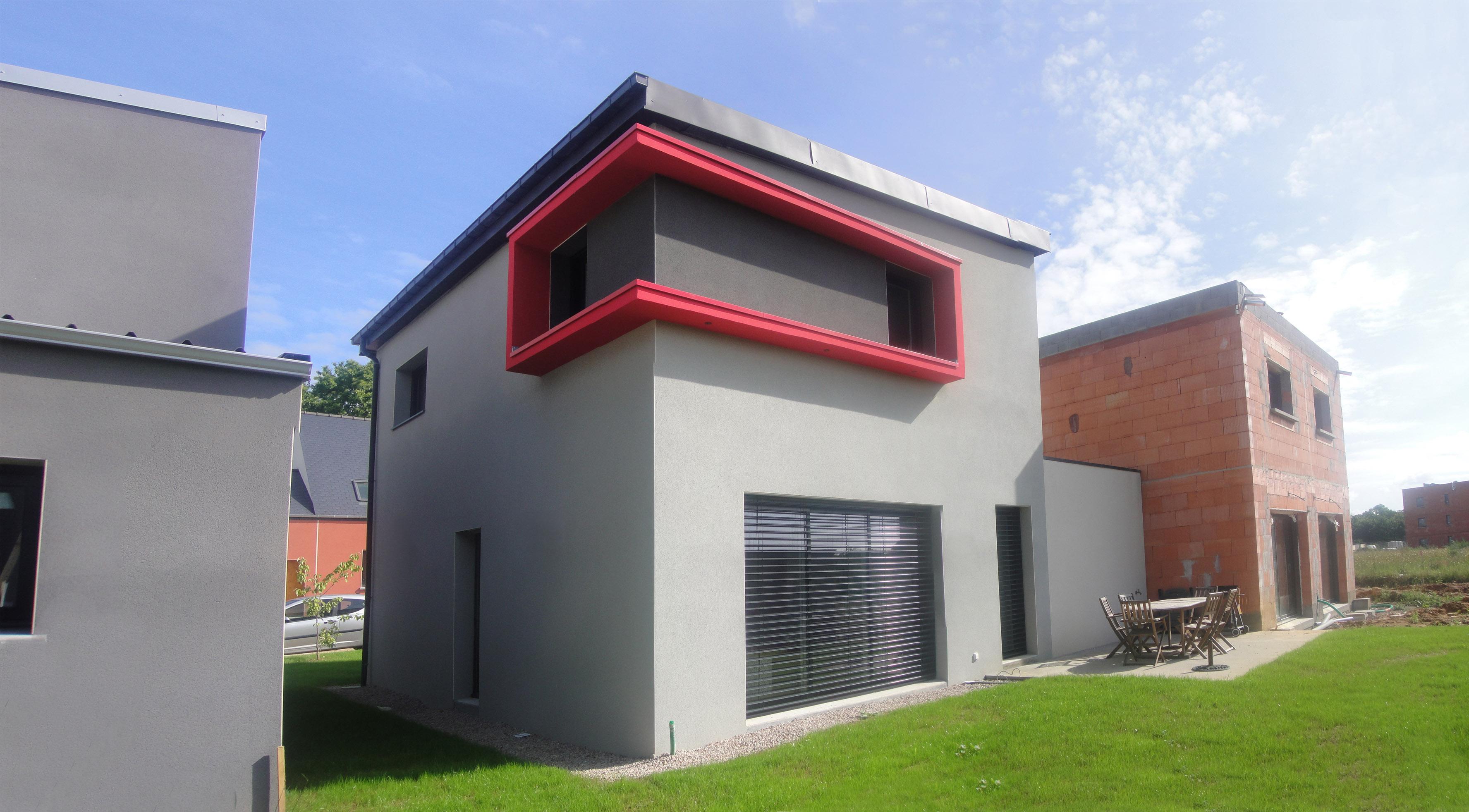 Projet a a 1 2 vue architecte lise roturier rennes for Maison neuve projet