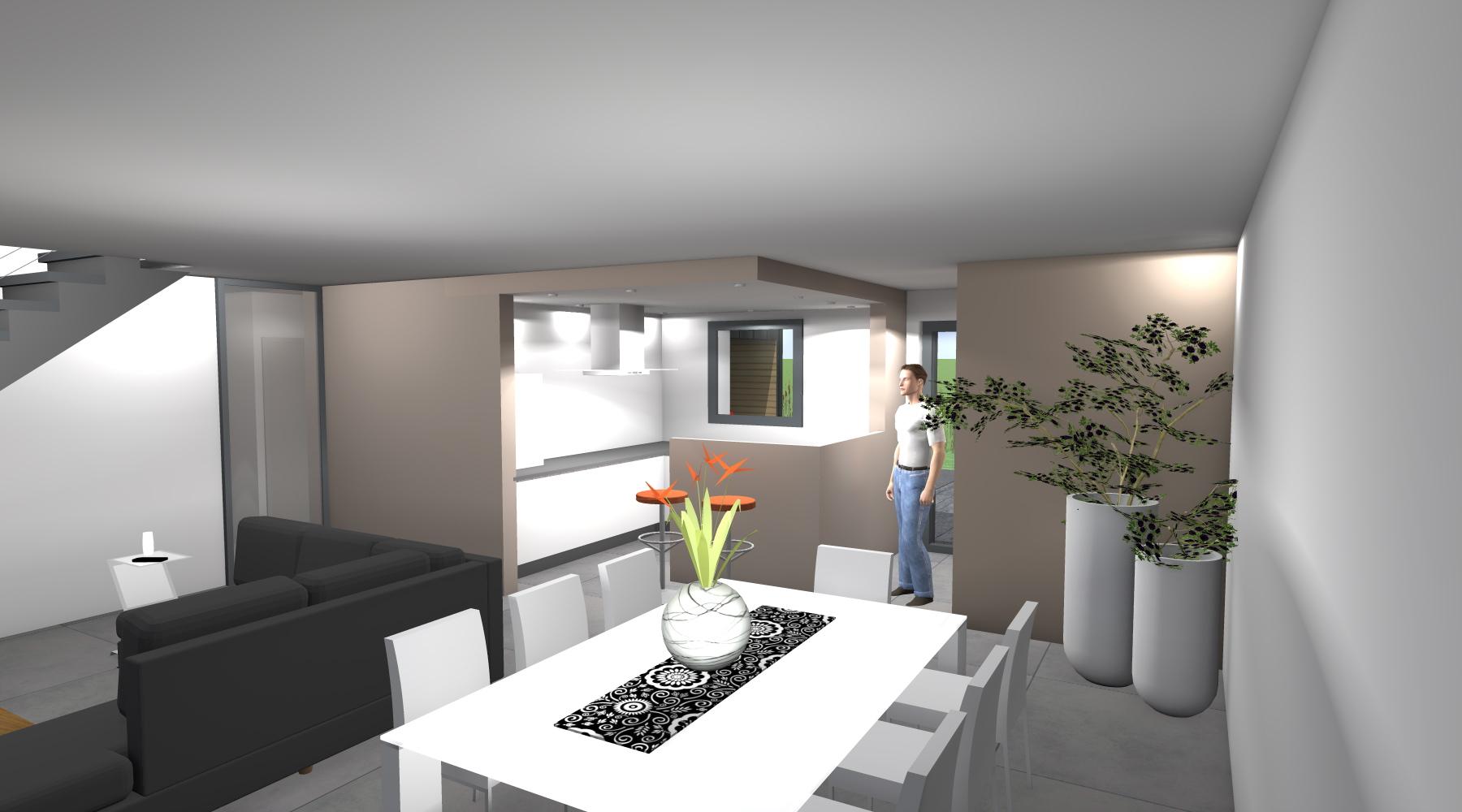Projet lf lf 1 2 vue architecte lise roturier rennes 35000 - Decoration interieur rennes ...