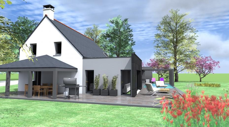 extension piscine 1 2 vue architecte lise roturier. Black Bedroom Furniture Sets. Home Design Ideas