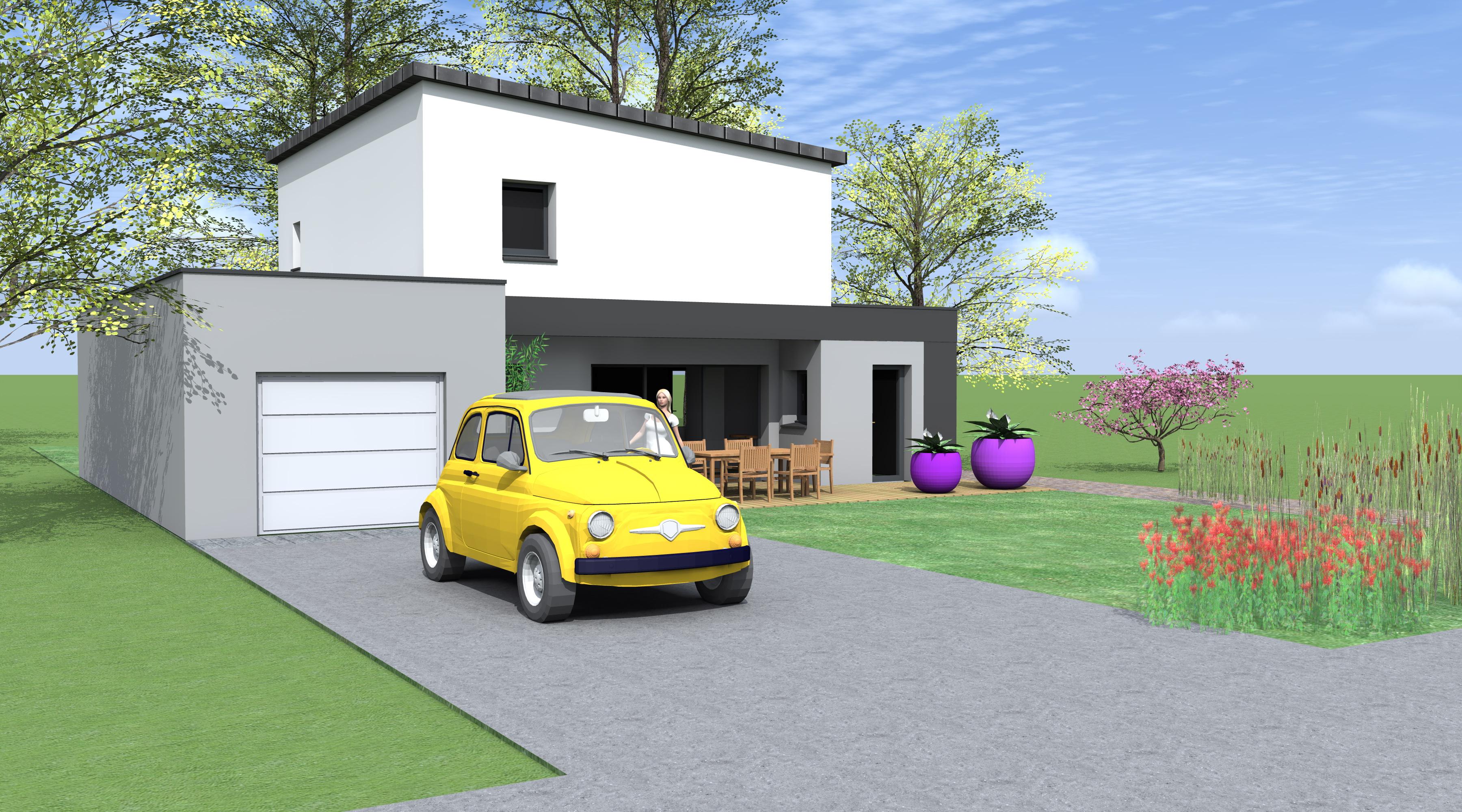 projet h h 1 2 vue architecte lise roturier rennes. Black Bedroom Furniture Sets. Home Design Ideas