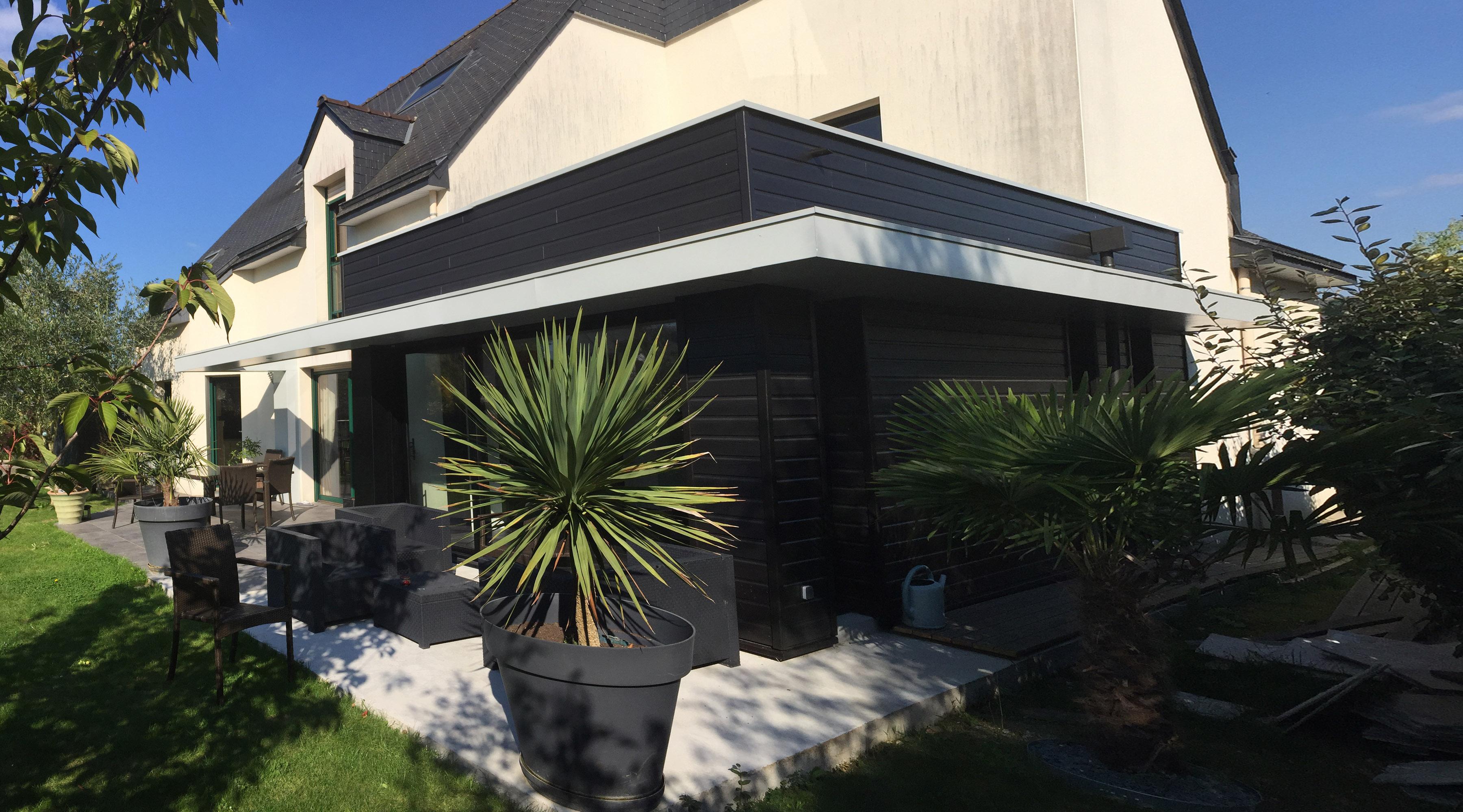 Extension maison architecte rennes 1 2 vue lise roturier for Honoraire d un architecte