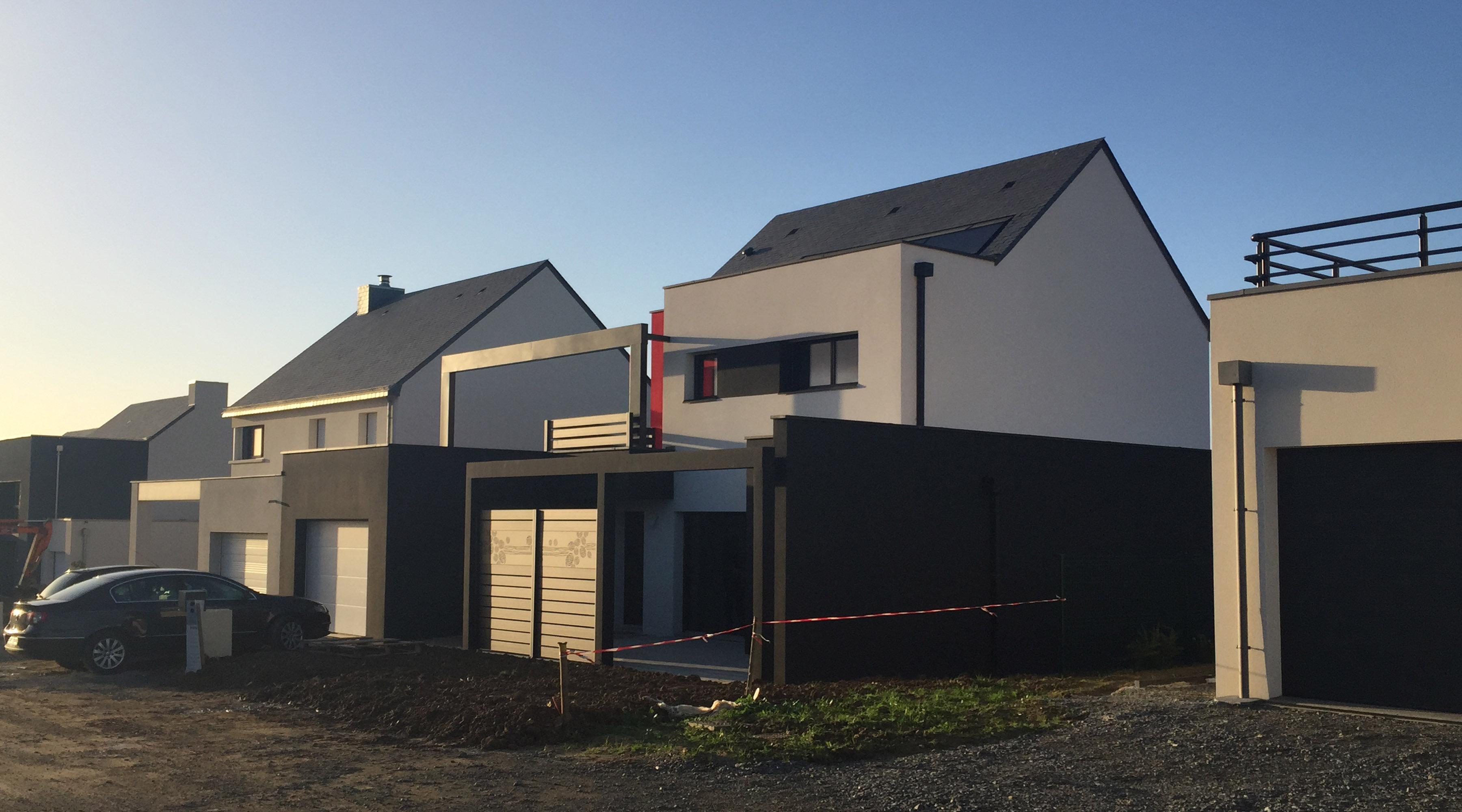 Maison d 39 architecte contemporaine st gr goire 35 agence 2 2 vues - Architecte d interieur rennes ...