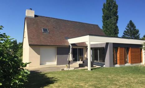 Extension maison architecte rennes 1 2 vue lise roturier for Cctp architecte