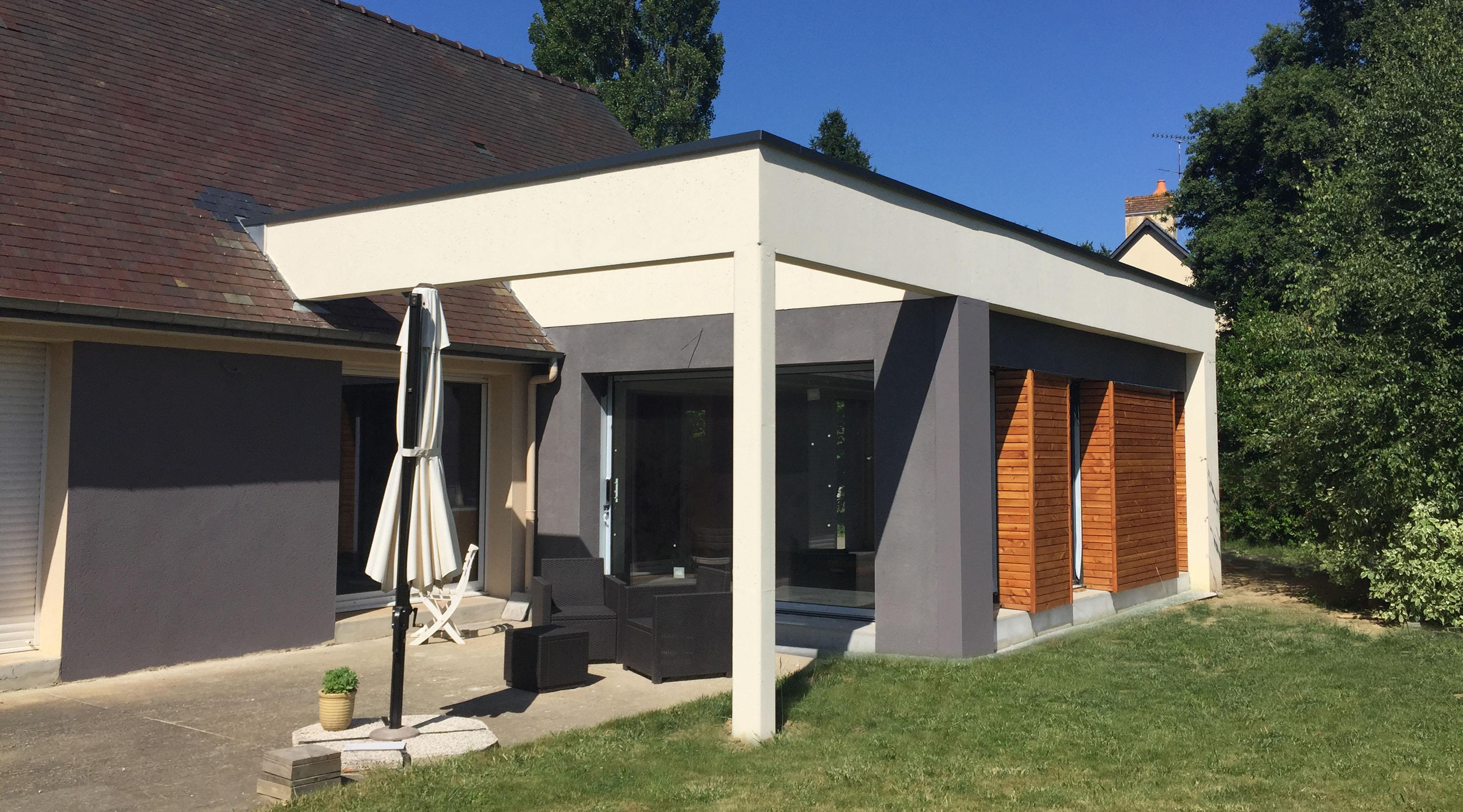Projet m m 1 2 vue architecte lise roturier rennes for Extension maison zone n