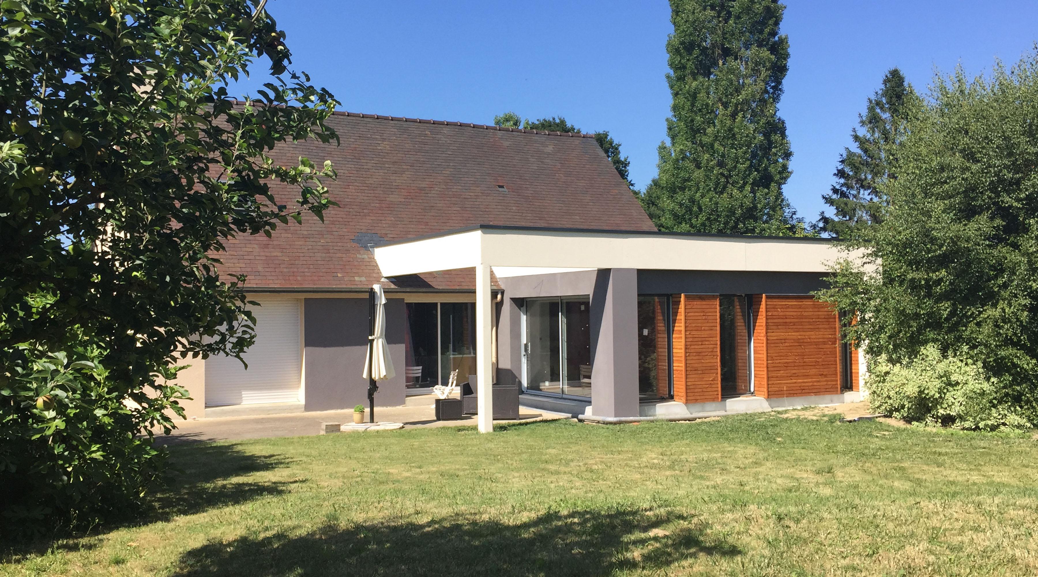 extension maison 1 2 vue architecte lise roturier. Black Bedroom Furniture Sets. Home Design Ideas