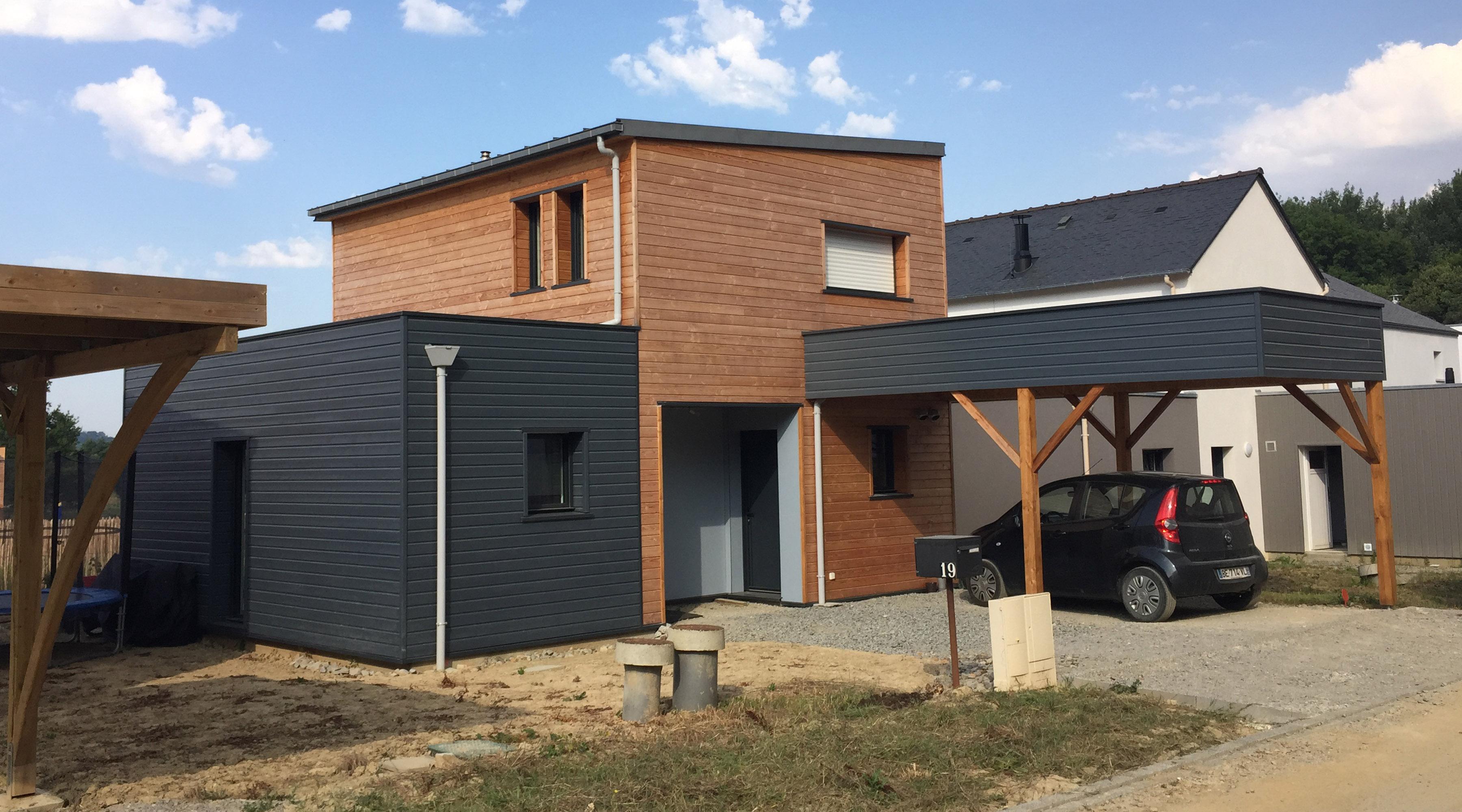Projet d 39 une maison en ossature bois org res 35 for Maison moderne zinc