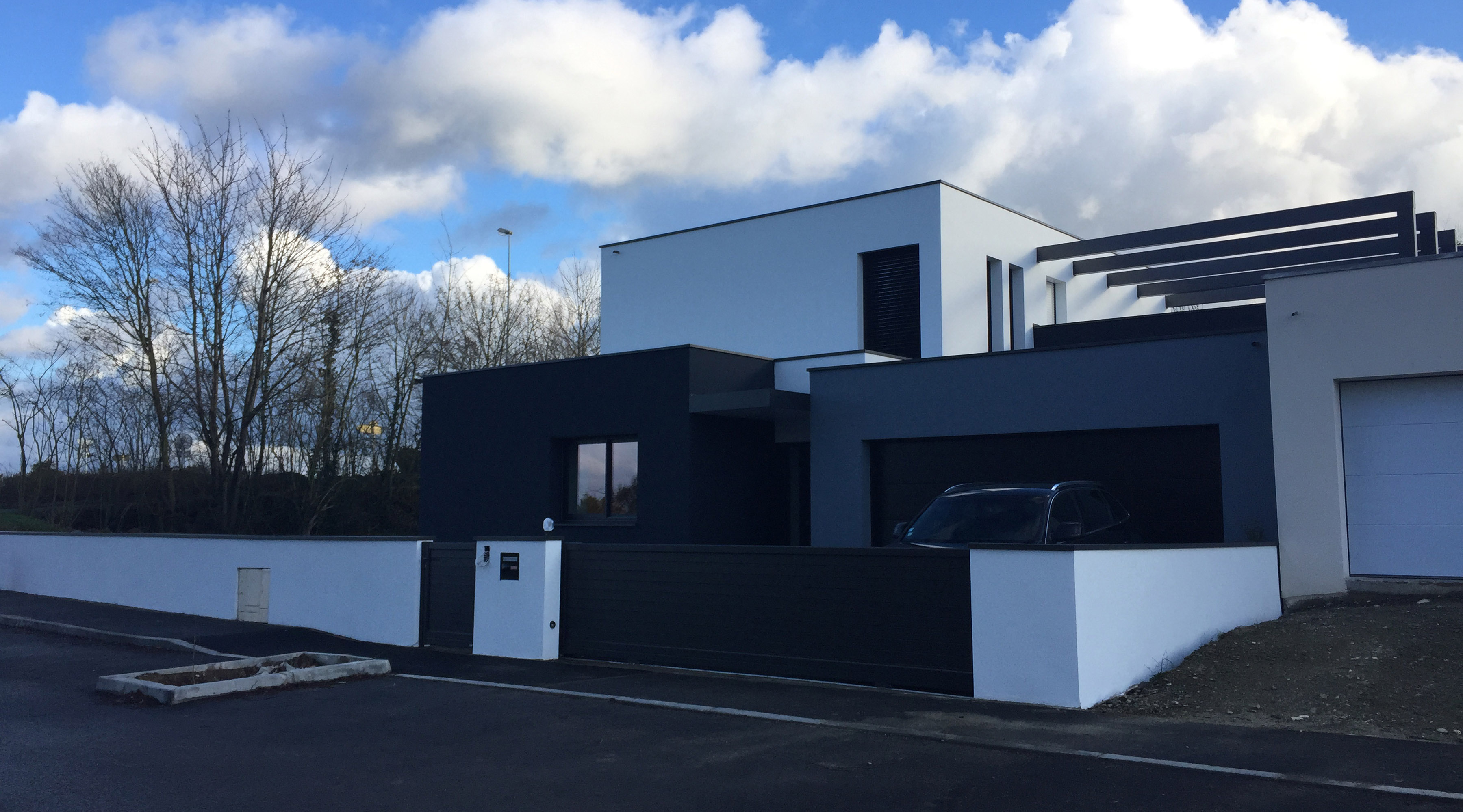 maison neuve architecte rennes 1 2 vue lise roturier. Black Bedroom Furniture Sets. Home Design Ideas