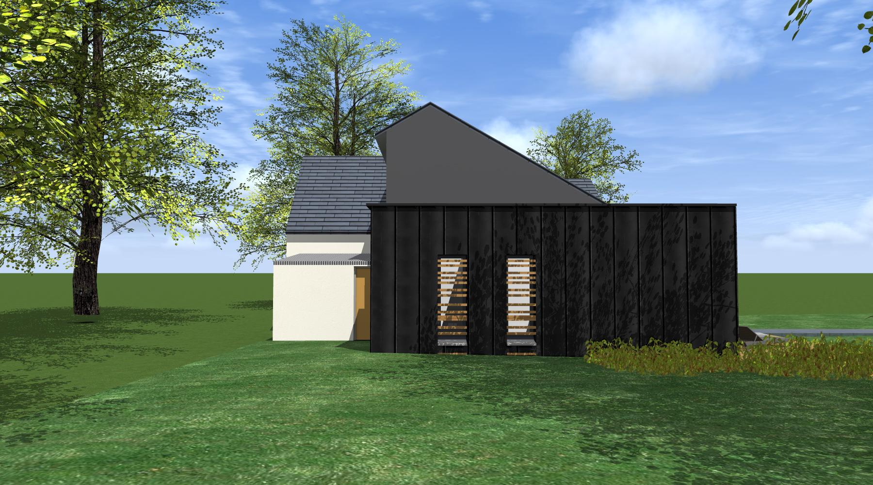 projet l c 1 2 vue architecte lise roturier rennes 35000. Black Bedroom Furniture Sets. Home Design Ideas