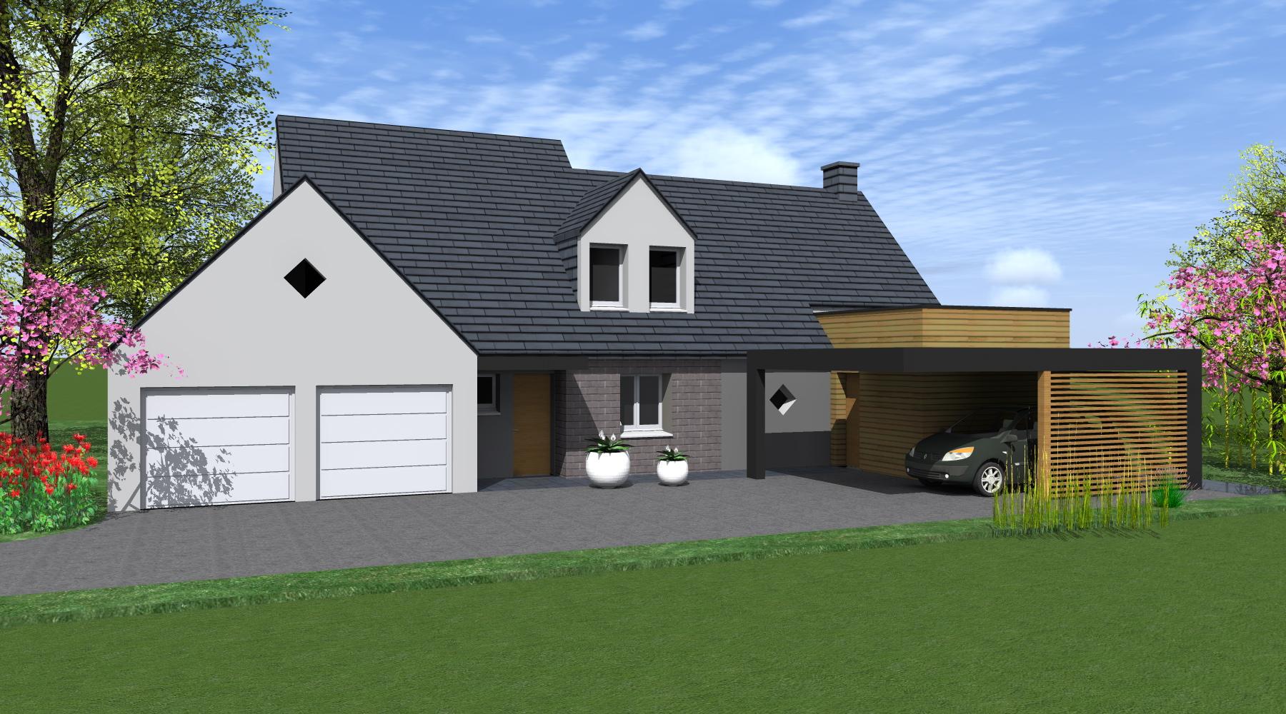projet g 1 2 vue architecte lise roturier rennes 35000. Black Bedroom Furniture Sets. Home Design Ideas
