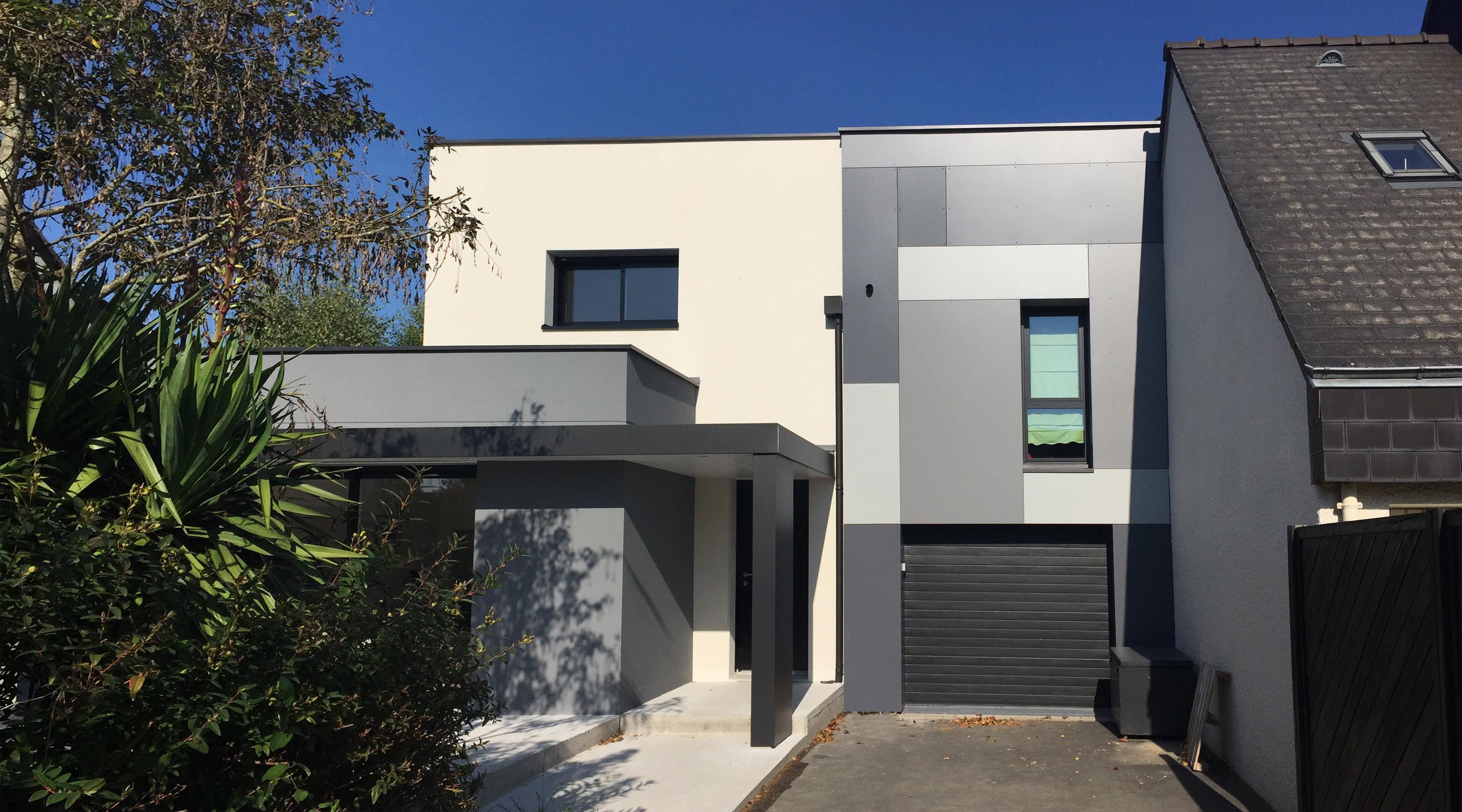 extension maison contemporaine rennes architecte rennes 1 2 vue lise roturier. Black Bedroom Furniture Sets. Home Design Ideas