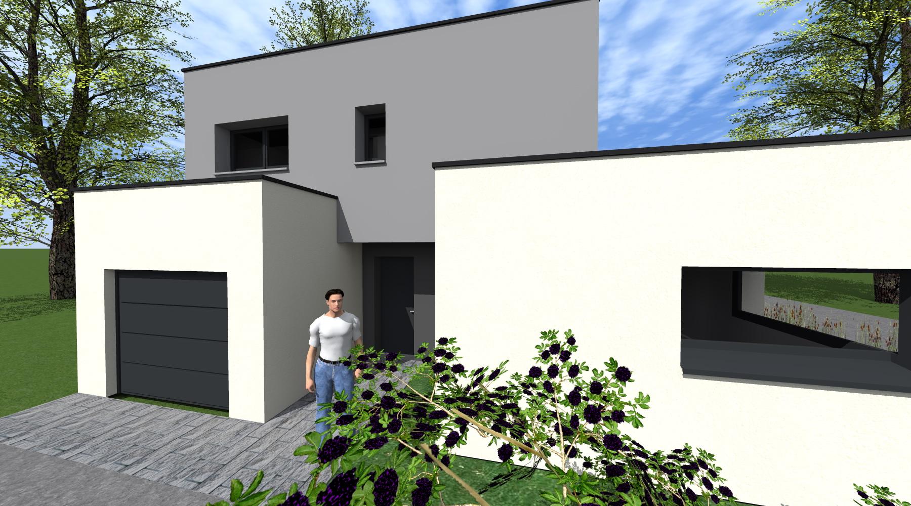 projet lg m 1 2 vue architecte lise roturier rennes 35000. Black Bedroom Furniture Sets. Home Design Ideas