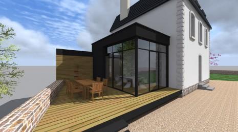 projet lh v 1 2 vue architecte lise roturier rennes 35000. Black Bedroom Furniture Sets. Home Design Ideas