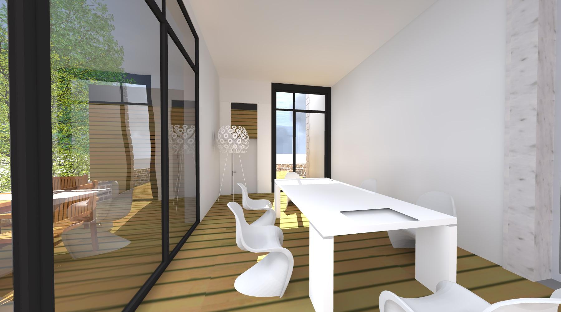Projet lh v 1 2 vue architecte lise roturier for Extension maison tva