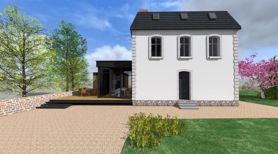 Projet lh v 1 2 vue architecte lise roturier for Extension maison 73