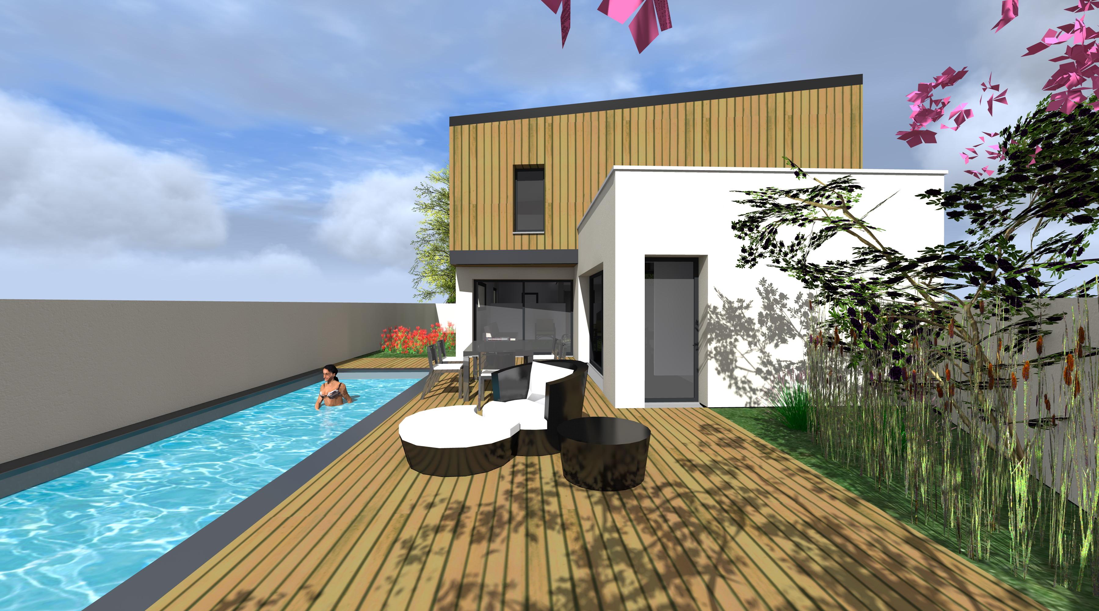 projet lb 1 2 vue architecte lise roturier rennes 35000. Black Bedroom Furniture Sets. Home Design Ideas