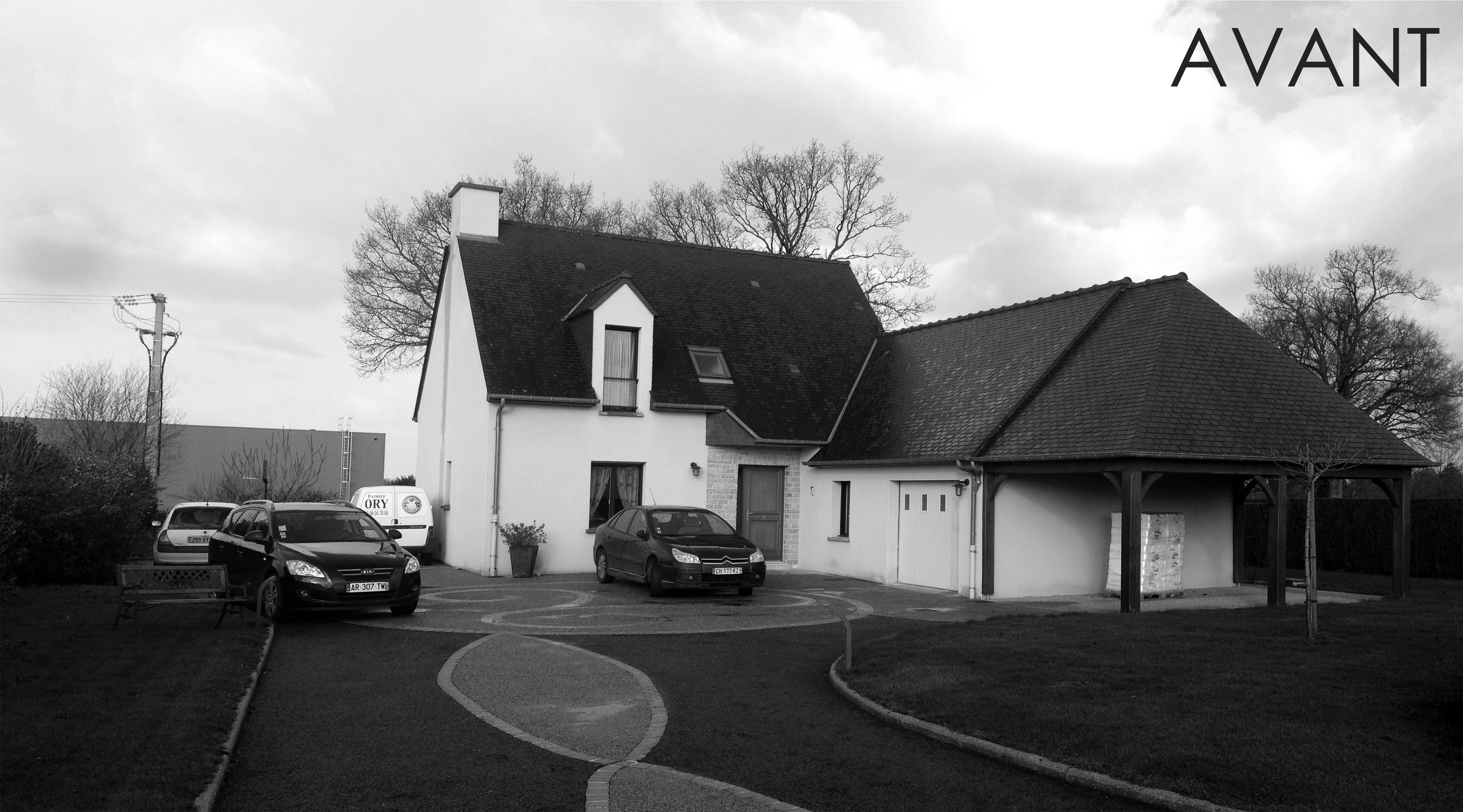 Projet oo sjv 1 2 vue architecte lise roturier for Agrandissement maison rennes
