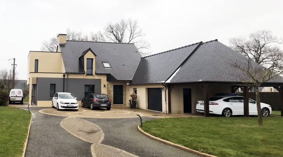 Projet oo sjv 1 2 vue architecte lise roturier for Extension maison 01