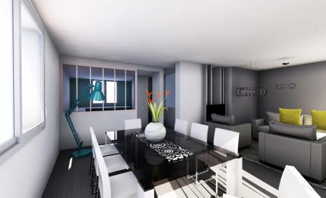 r novation long re 1 2 vue architecte lise roturier. Black Bedroom Furniture Sets. Home Design Ideas