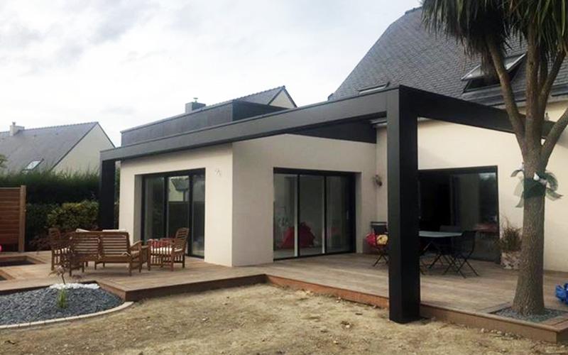 extension maison architecte rennes 1 2 vue lise roturier. Black Bedroom Furniture Sets. Home Design Ideas