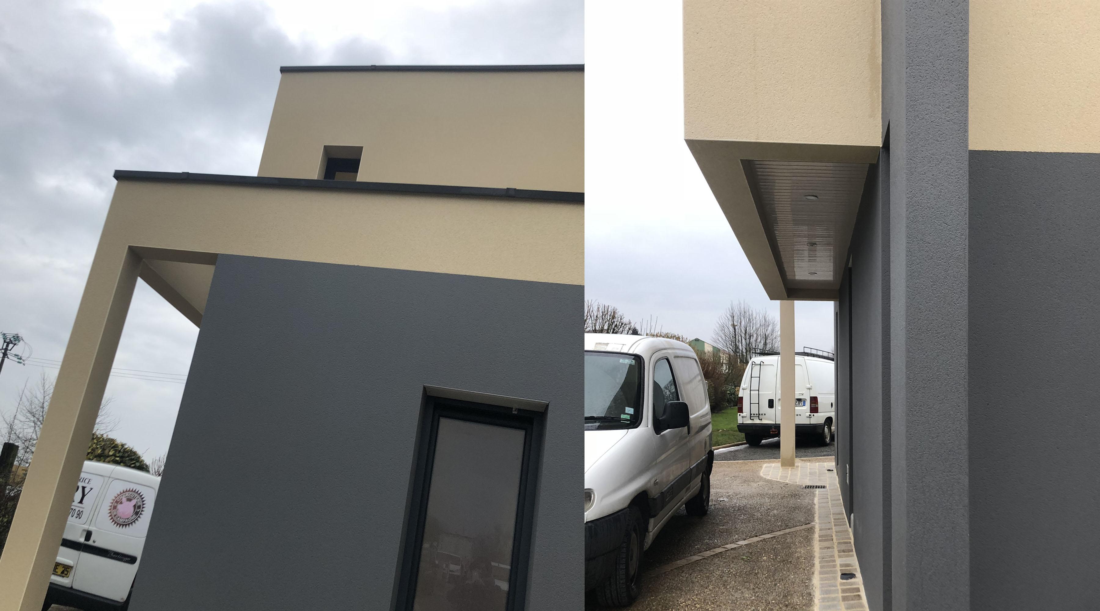 Projet oo sjv 1 2 vue architecte lise roturier for Extension maison 2018