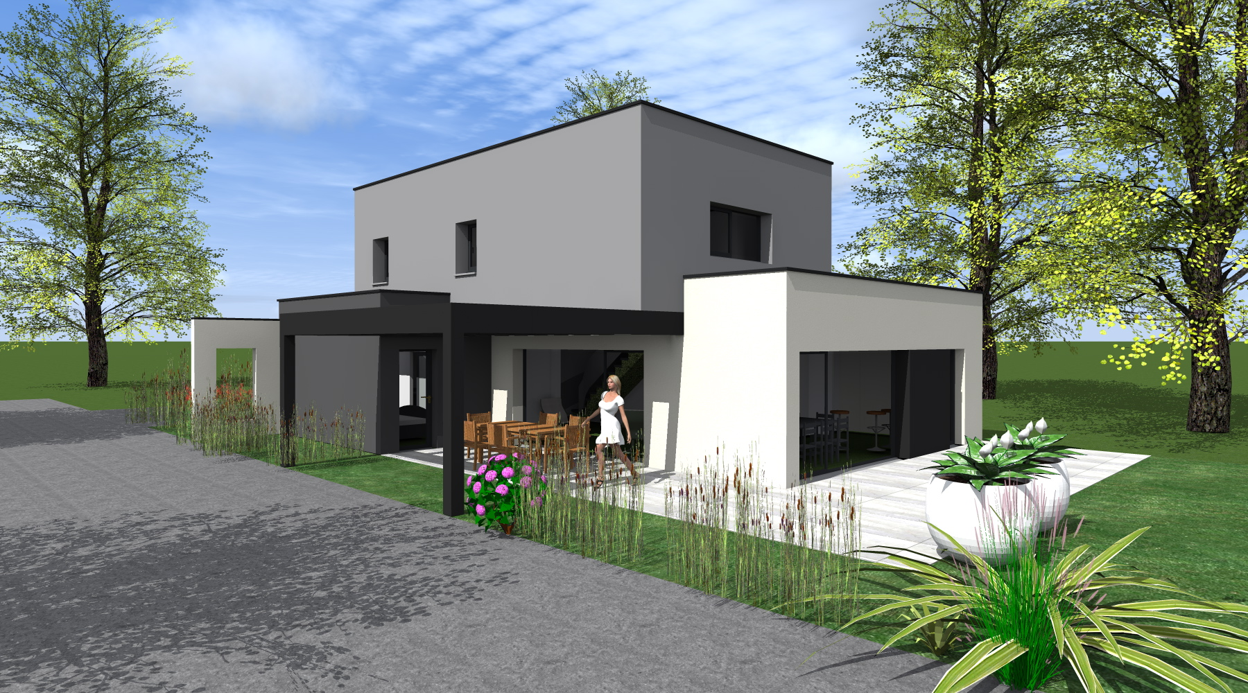 Constructeur De Maison Rennes maison neuve rt 2012 - 1.2 vue – architecte / lise roturier