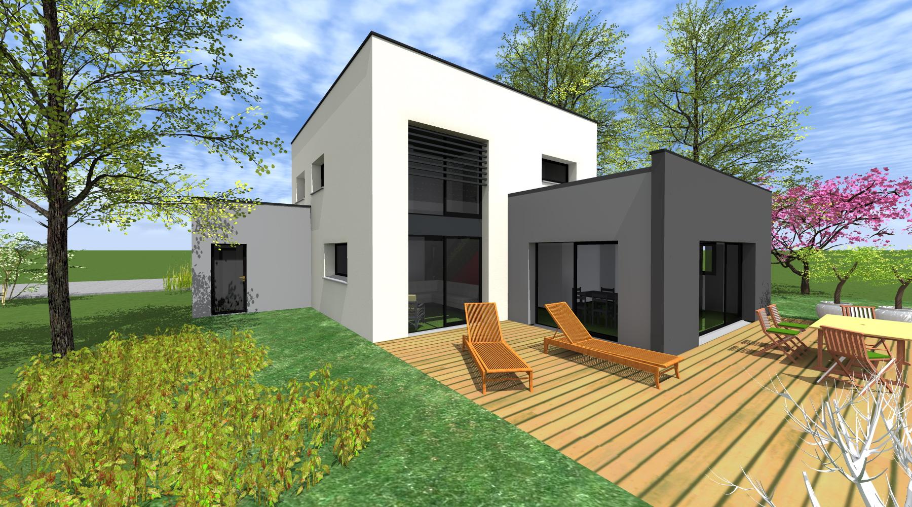 Constructeur De Maison Rennes maison rt 2012 - 1.2 vue – architecte / lise roturier
