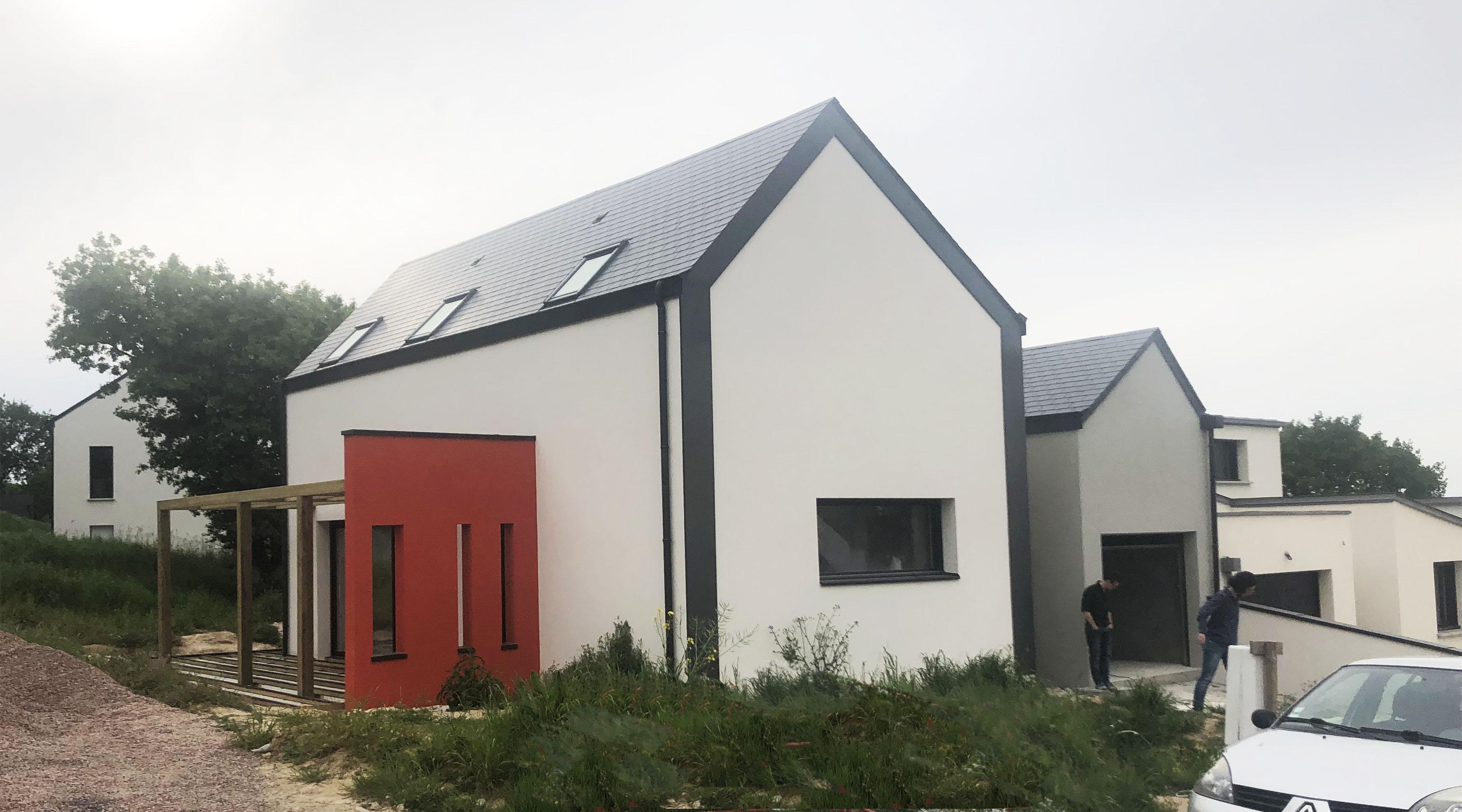 Constructeur Maison Neuve Ille Et Vilaine maison neuve - 1.2 vue – architecte / lise roturier – rennes