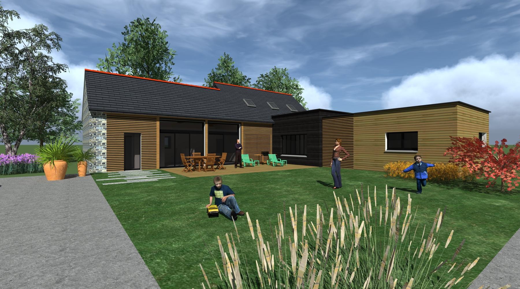 Transformation Grange En Habitation Rt 2012 rénovation extension maison architecte rennes_1.2_vue_lise